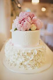 Two Tier Cake With Fresh Flowers Google Search Wedding Cake