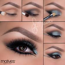 motives cosmetics arabic blue gold look