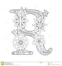 letter r coloring book for s vector stock vector ilration of element fabric