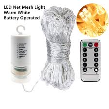 Battery Operated Net Lights With Timer Amazon Com Led Net Fairy Mesh Lights 200pcs Warm White