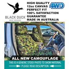 black duck camo canvas seat cover mack truck big boy driver hiback seatbelt prov