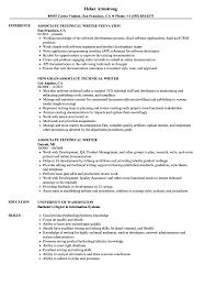 Technical Writer Resume Samples Associate Technical Writer Resume Samples Velvet Jobs