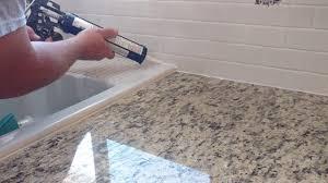 how to install silicone caulk around kitchen countertop shower bath tub etc