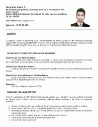 College Student Resume Sample Philippines Inspirational Simple