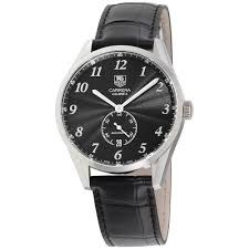 tag heuer tag heuer carrera black dial leather strap men s watch was2110 fc6180 com