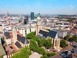 Dortmund City Centre Aerial Panoramic View In Germany Stock Photo, Picture  And Royalty Free Image. Image 150455796.