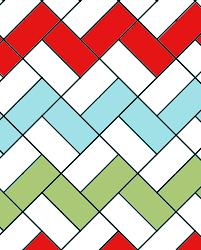 Père-Noël zigzag quilt tutorial part one: quilt top | Sewn Up & Place the blocks in a zig zag way as per diagram below. Adamdwight.com