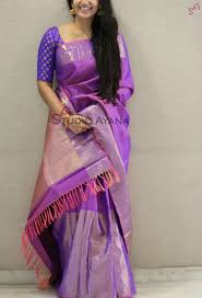 Light Purple Color Saree Purple Sari Less Explored Colour Saree Blouse Designs