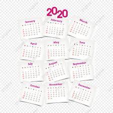 Yearly Pink Calendar 2020 2020 Calendar Calendar 2020