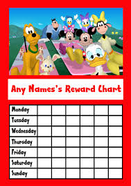 9 Free Mickey Mouse Potty Training Chart Free Mickey Mouse