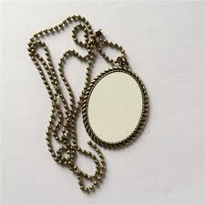necklaces pendants for sublimation retro women necklace pendant for thermal transfer printing diy blank consumables a3502