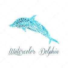 ᐈ тату дельфин акварель векторные изображения рисунок акварель