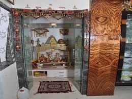 modern interior design for mandir in home in study room decoration