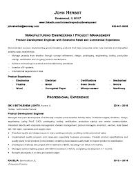 Manufacturing Engineer Resume Examples Herbst John Resume Manufacturing Engineer 2016 Resume Examples