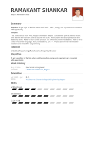 Electronics Engineer Resume samples