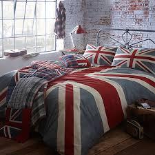 Vintage style union jack bedding