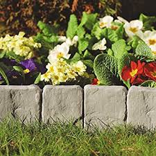 garden borders and edging. Dark Grey Lakeland Stone Hammer In Garden Border Edging (384) Perfect Finished For Edges Borders And