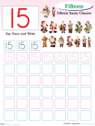 Small Picture Numbers writing practice worksheet 15 Download Free Numbers