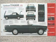sunbeam tiger car sunbeam tiger spec sheet brochure pamphlet catalog 1965