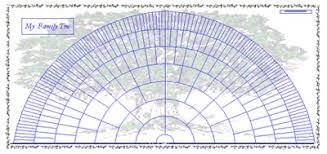Genealogy Fan Chart 8 Generation Fan Chart