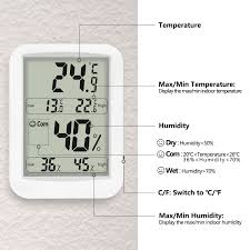 Thermometer Hygrometer Digitales Thermo Hygrometer Inne