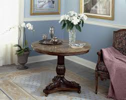 image of modern round entry table