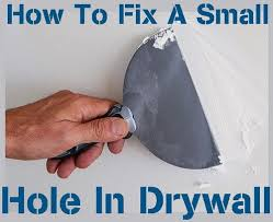 how to fix a small hole in drywall from