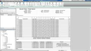 Revit For Mep Electrical Systems Panel Templates