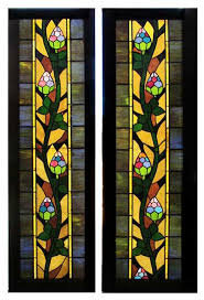 multiple stained glass panels 250 each