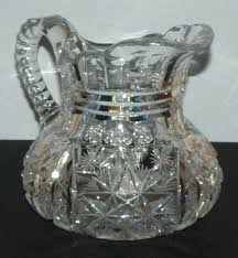 crystal water pitcher brilliant cut glass waterford vintage a