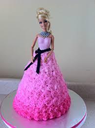 Pink Swirl Barbie Birthday Cake Lolos Cakes Sweets