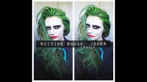 squad joker makeup hair female