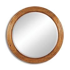 jonathan charles furniture large round walnut wall mirror