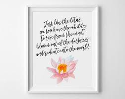 Paper Flower Quotes Buddha Quote Just Like A Lotus We Too Have The Ability To Etsy