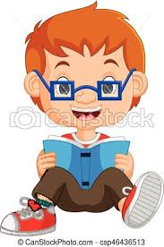 kids boy reading book csp46436513