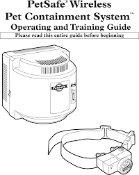 If101 Petsafe Wireless Pet Containment System User Manual