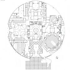 charles correa state assembly india drawing entrance level plan