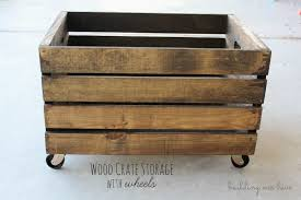 wood crate storage with wheels i m super excited about this storage project