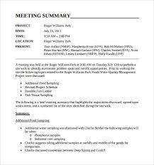 Meeting Overview Template - Kleo.beachfix.co