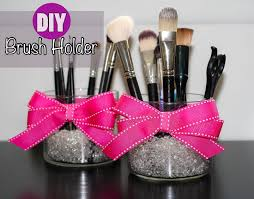 diy makeup brush holder tutorial super cute and easy to do