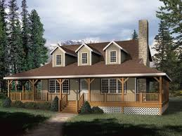 mountain home plan front of home 058d 0032 house planore