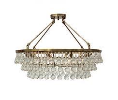 celeste flush mount glass drop crystal chandelier brass