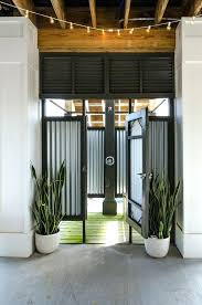 corrugated metal shower under deck patio beach style with corrugated metal gate exterior cleaners corrugated metal