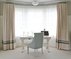 curtains for home office. Portland Maine Desk For Bay Window Home Office Transitional With Sheer Curtains Traditional Artificial Flowers Round Clock E