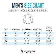 Size Guide Mens Slim Shirts U S Polo Assn