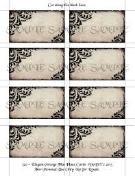 flat place cards gothic printable place card template tented or flat styles arty