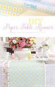 this unique paper table runner is easy to make and cute it would dress up
