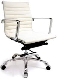 Off white office chair Serta Style Retro Furniture Vintage Furniture Eames Style Office Chair white