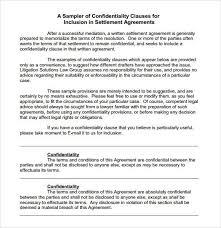 Confidentiality Agreement Lawsuit Settlements Fresh Sample Legal ...