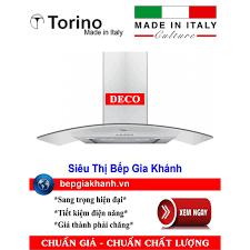 Máy hút mùi nhà bếp dạng kính cong 90cm Torino DECO nhập khẩu Italy chính  hãng 11,200,000đ